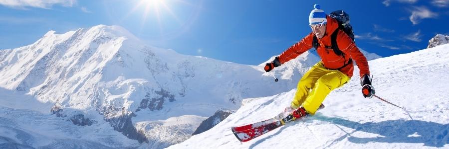 Banner nosiče lyží